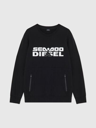 Diesel - BMOWT-ROUNDOO, Noir/Orange - Out of water - Image 1