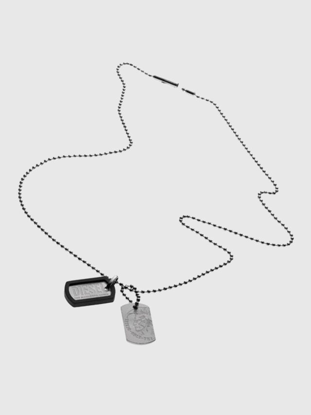 Diesel - A TOG TOG ONE WITH, Gris argenté - Colliers - Image 1