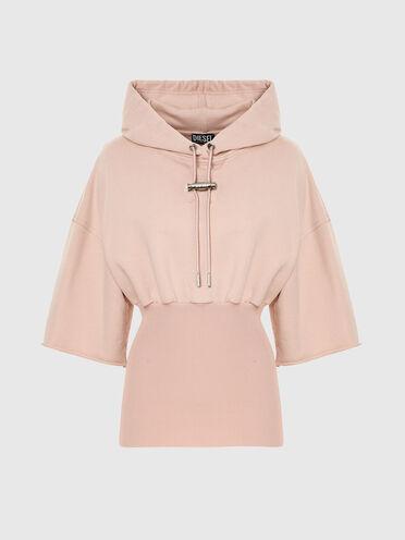 Sweat-shirt à capuche avec ourlet ajusté