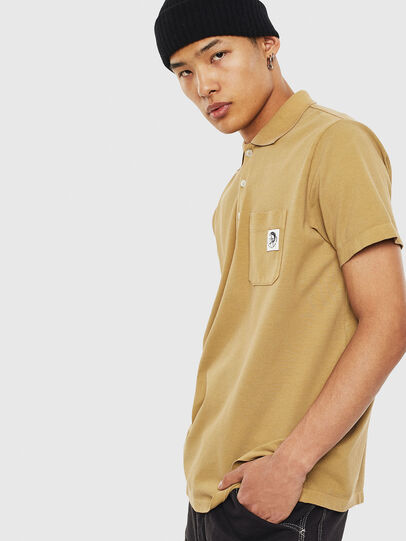 Diesel - T-POLO-WORKY, Marron Clair - Polos - Image 4