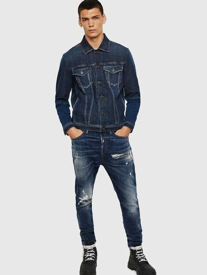 Diesel - D-Vider 0090G, Bleu Foncé - Jeans - Image 6