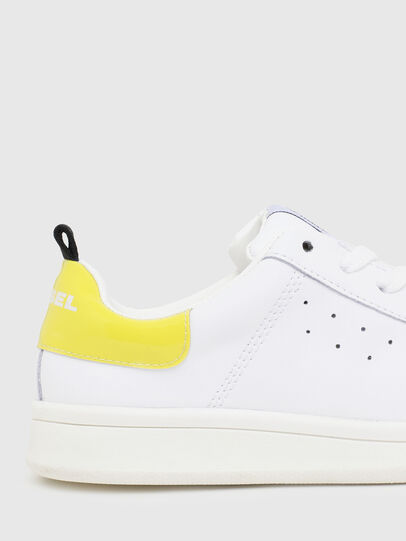 Diesel - SN LOW LACE 11 FULL, Blanc/Jaune - Footwear - Image 4