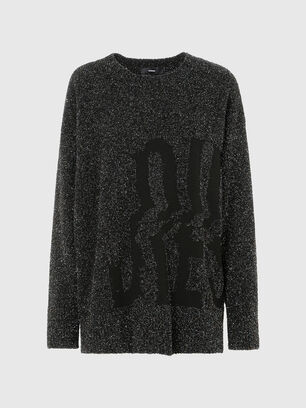 M-AGATE, Noir - Pull Maille
