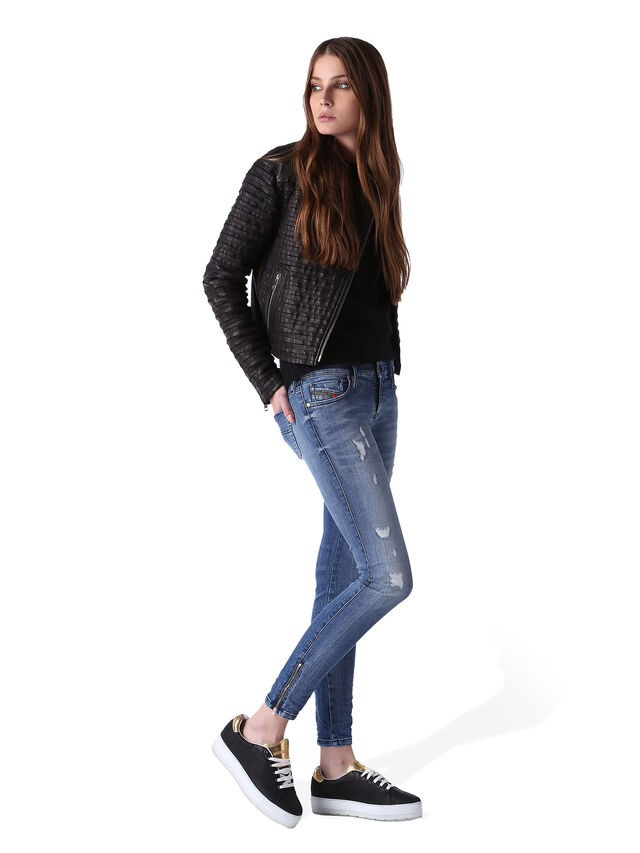 Diesel - Skinzee Low Zip 0847U, Bleu moyen - Jeans - Image 5