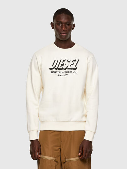 Diesel - S-GIRK-A74, Blanc - Pull Cotton - Image 1