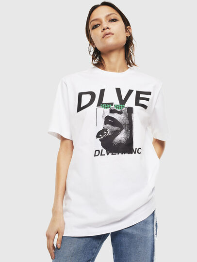 Diesel - T-JUST-T21, Blanc - T-Shirts - Image 2