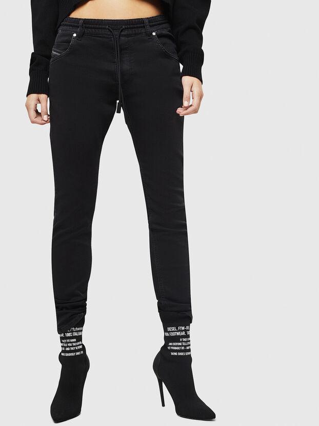 Krailey JoggJeans 0687Z, Noir/Gris foncé - Jeans
