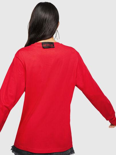 Diesel - LCP-T-JUST-LS-PALERM, Rouge - T-Shirts - Image 4