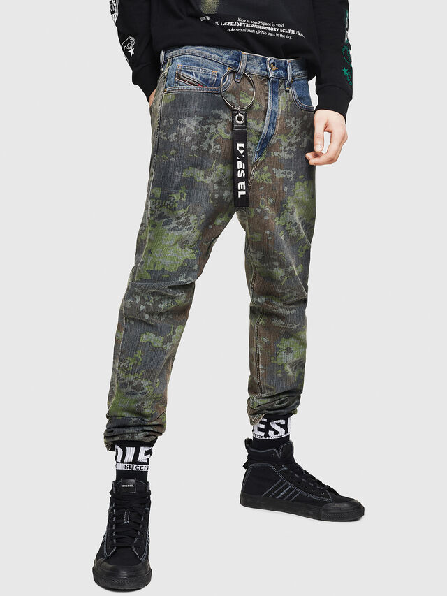 Diesel - D-Vider 0078E, Bleu moyen - Jeans - Image 1