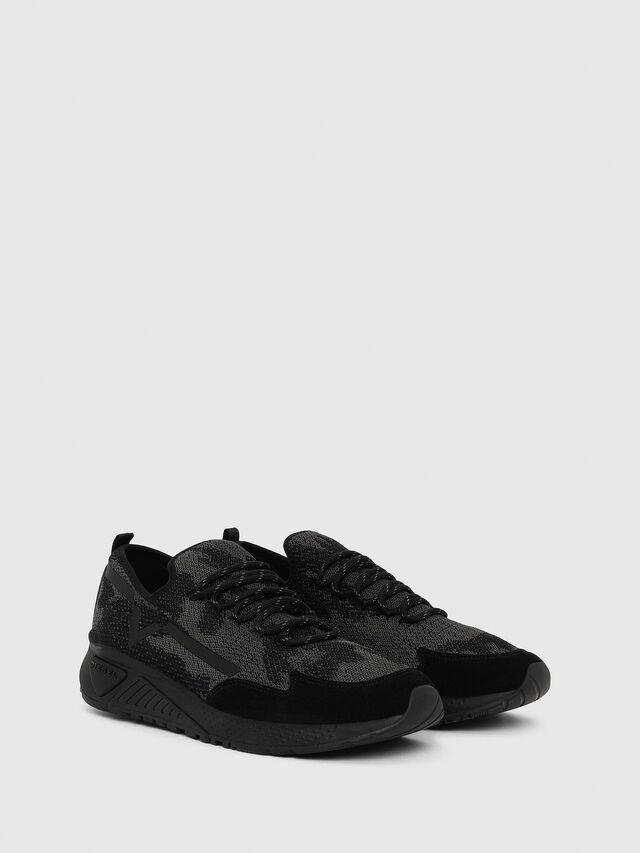 203077b337c76 S-KBY Homme  Sneakers en maille légère à motif camouflage
