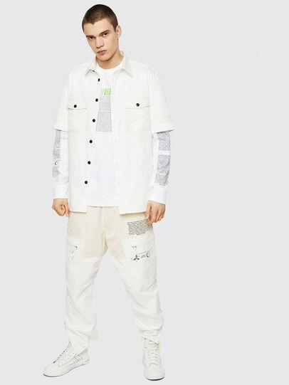 Diesel - T-JUST-LS-NEW, Blanc - T-Shirts - Image 5