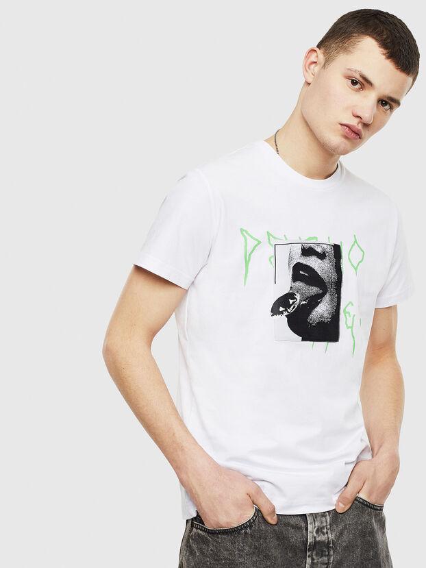 T-DIEGO-S12, Blanc - T-Shirts