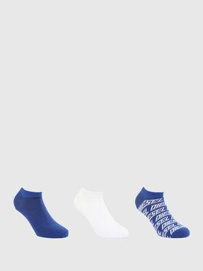 SKM-GOST-THREEPACK, Bleu/Blanc - Chaussettes
