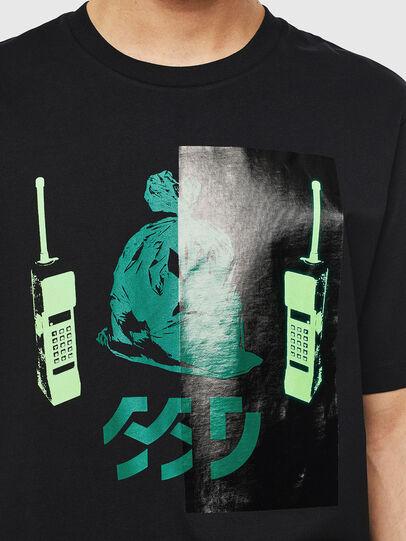 Diesel - T-JUST-T30, Noir - T-Shirts - Image 3