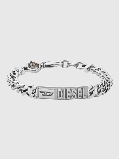 Diesel - DX1225, Gris argenté - Bracelets - Image 1