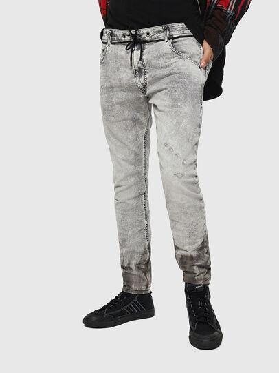 Diesel - Krooley JoggJeans 0091H, Gris Clair - Jeans - Image 1