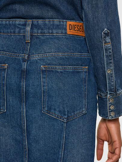 Diesel - DE-PENCIL-ZIP, Bleu moyen - Jupes - Image 4
