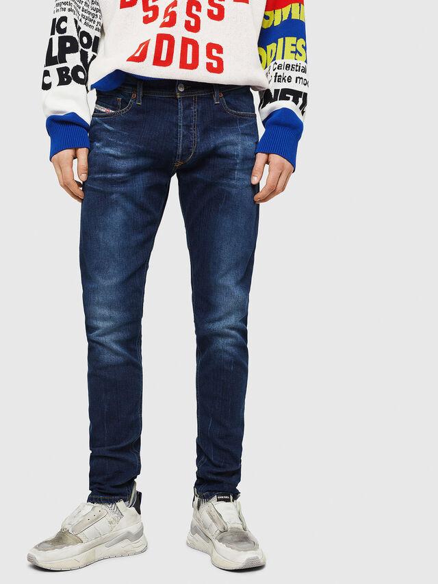 ec0712c121d3e TEPPHAR-X 083AT Homme: Slim Jeans Bleu foncé   Diesel