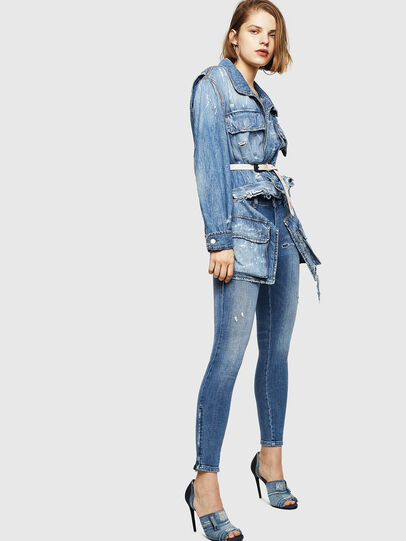 Diesel - Slandy Zip 083AP, Bleu moyen - Jeans - Image 5