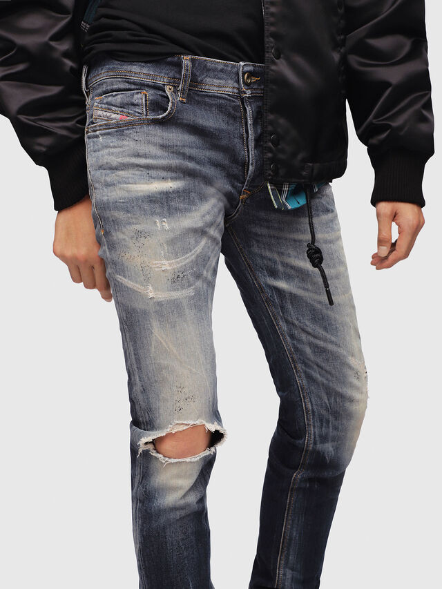 Diesel - Sleenker 069DJ, Bleu Foncé - Jeans - Image 3