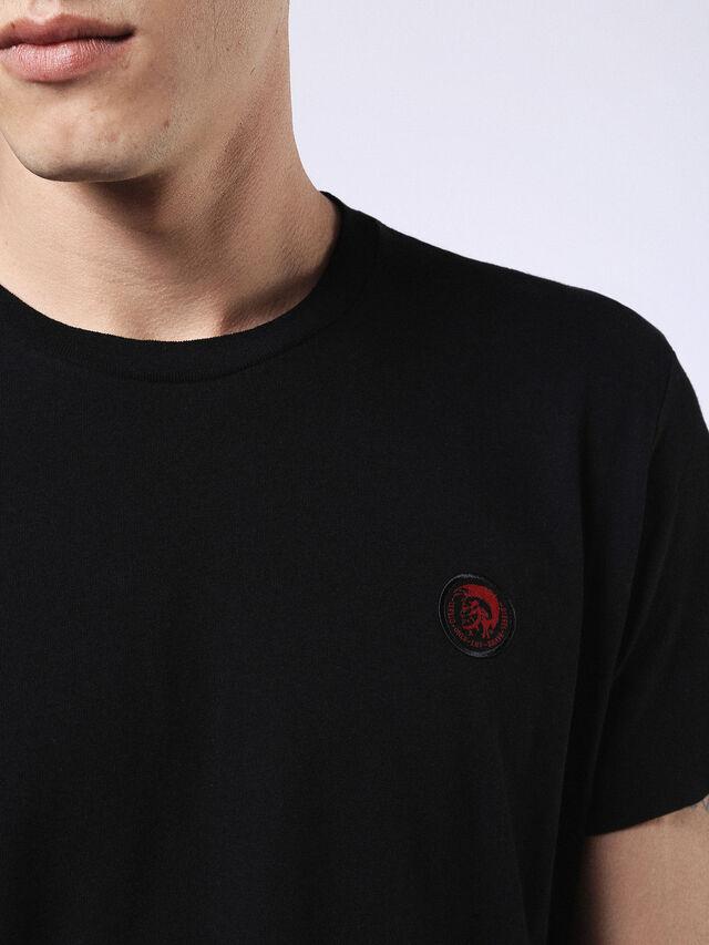 Diesel - DVL-T-SHIRT-ML-RE, Noir - T-Shirts - Image 5