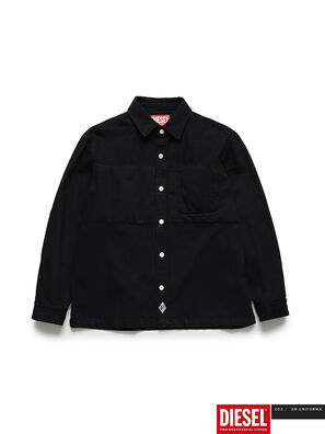 GR02-B301, Noir - Chemises en Denim