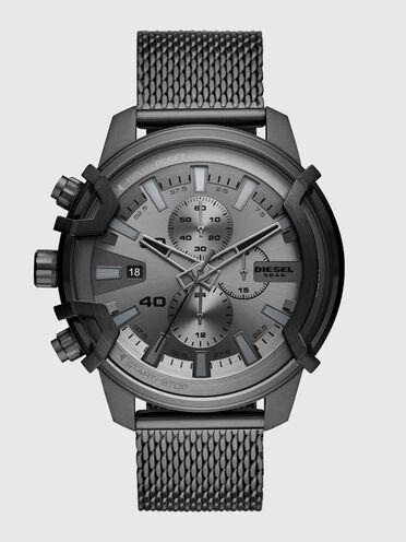 Montre Griffed chronographe en acier inoxydable gris plomb