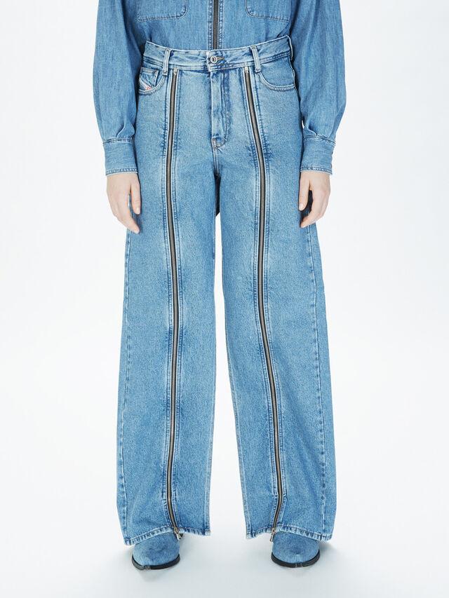 Diesel - SOWL01, Bleu Clair - Pantalons - Image 3