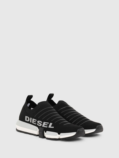 Diesel - H-PADOLA LOW SOCK, Noir - Baskets - Image 2