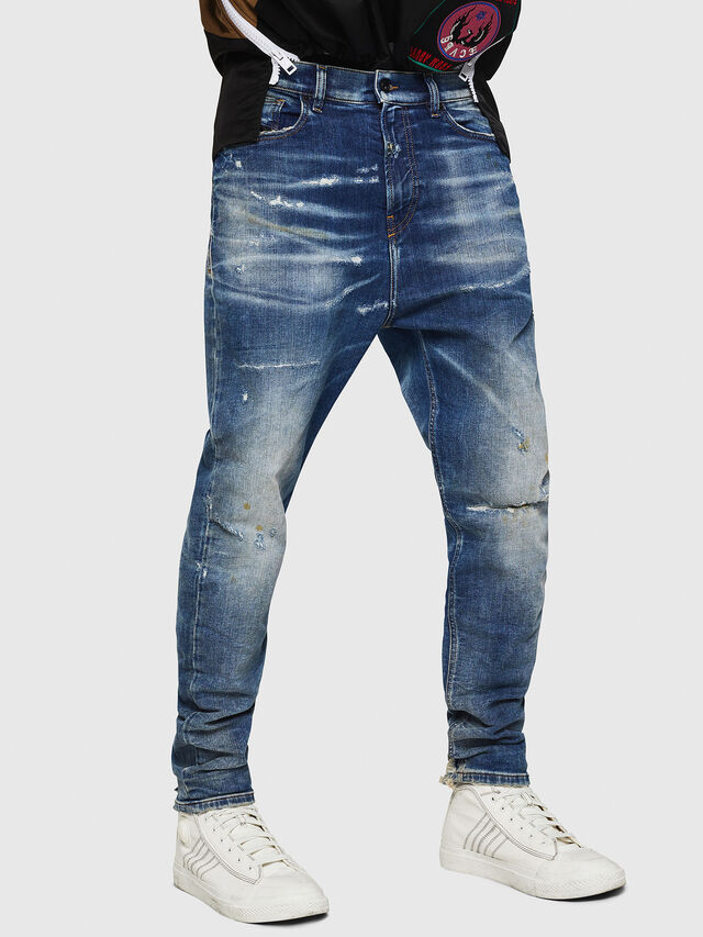Diesel - D-Vider JoggJeans 0870Q, Bleu moyen - Jeans - Image 1