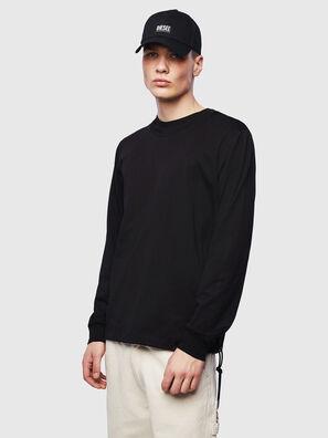 T-HUSTY-LS, Noir - T-Shirts