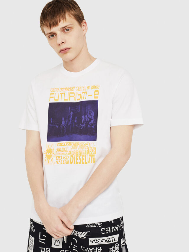 Diesel - T-JUST-Y16, Blanc - T-Shirts - Image 1