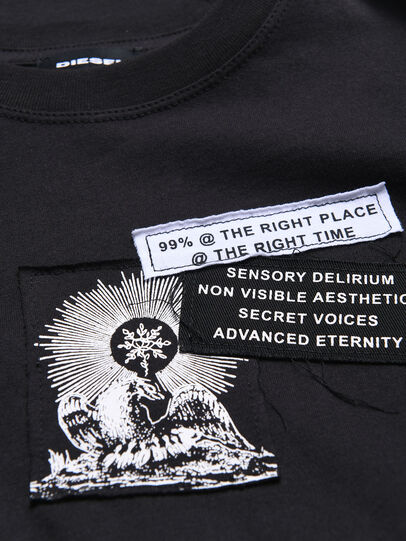 Diesel - TSHOOTYA OVER, Noir/Blanc - T-shirts et Hauts - Image 3