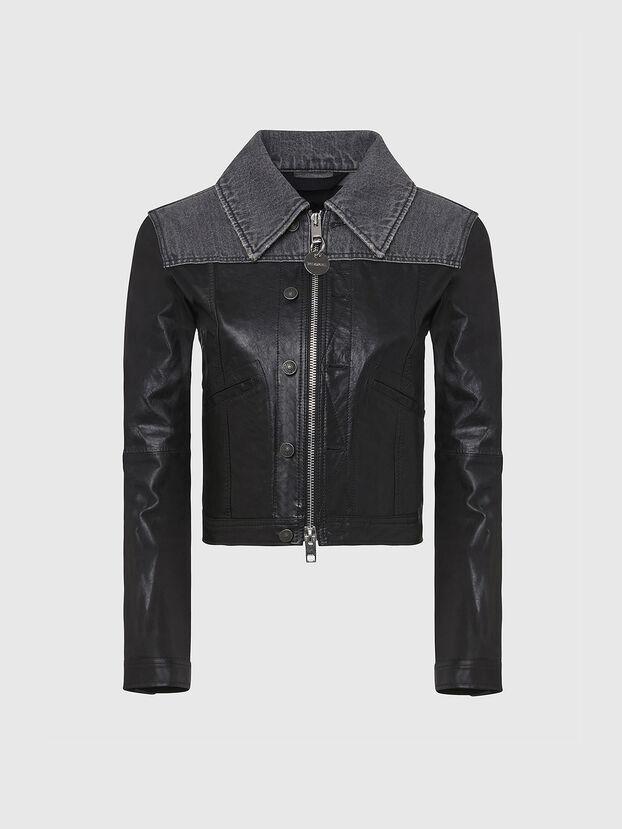 L-LYLE, Noir - Vestes de cuir