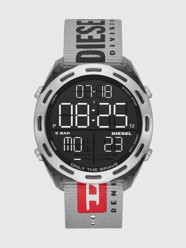 Crusher montre numérique en nylon gris