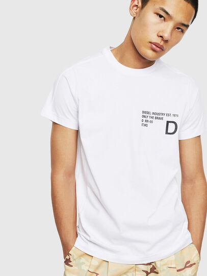 Diesel - T-HOVER, Blanc - T-Shirts - Image 1