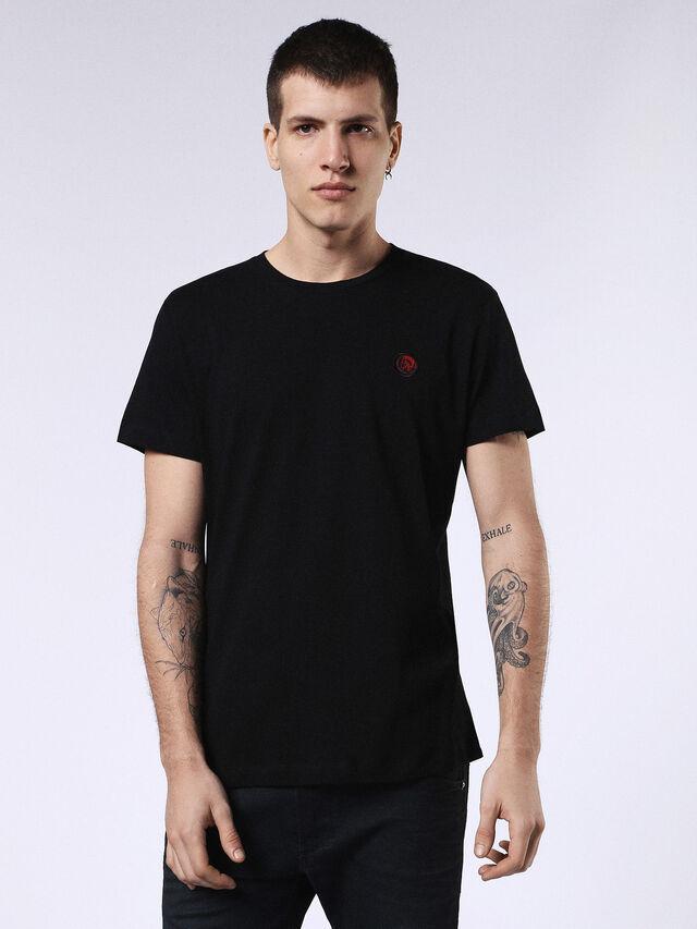 Diesel - DVL-T-SHIRT-ML-RE, Noir - T-Shirts - Image 1