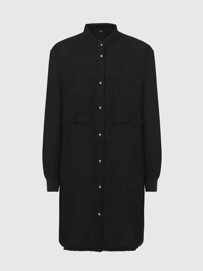 Diesel - D-SUPER-D, Noir - Robes - Image 1