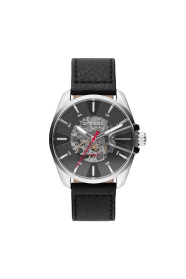 Montre MS9 avec un bracelet en cuir noir