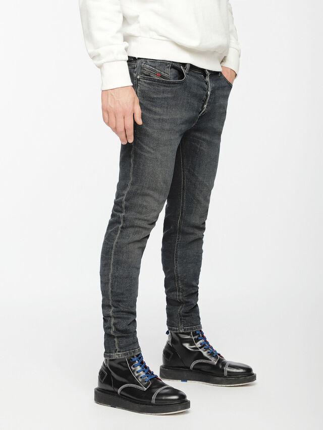 Diesel - Sleenker 084VQ, Noir/Gris foncé - Jeans - Image 3