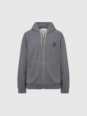 UMLT-BRANDON-Z, Gris Chiné - Pull Cotton