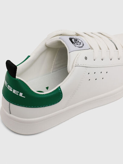 Diesel - SN LOW LACE 11 FULL, Blanc/Vert - Footwear - Image 4