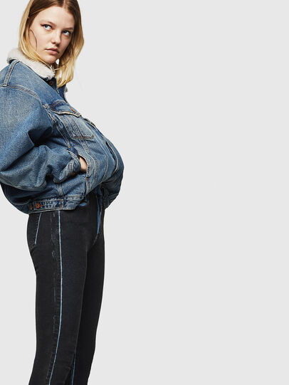 Diesel - Slandy High 0094B, Bleu Foncé - Jeans - Image 6