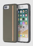 ZIP OLIVE LEATHER IPHONE 8/7/6s/6 CASE, Vert Olive - Coques