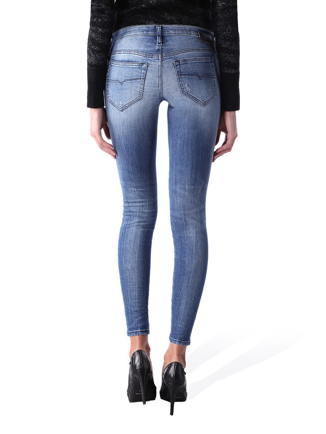 Diesel - Skinzee Low Zip 0847U, Bleu moyen - Jeans - Image 4