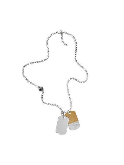 Diesel - NECKLACE DX1055, Gris argenté - Colliers - Image 1
