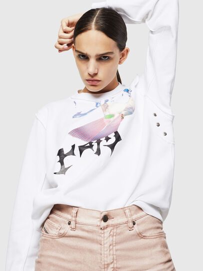 Diesel - F-LYANY-G, Blanc - Pull Cotton - Image 4