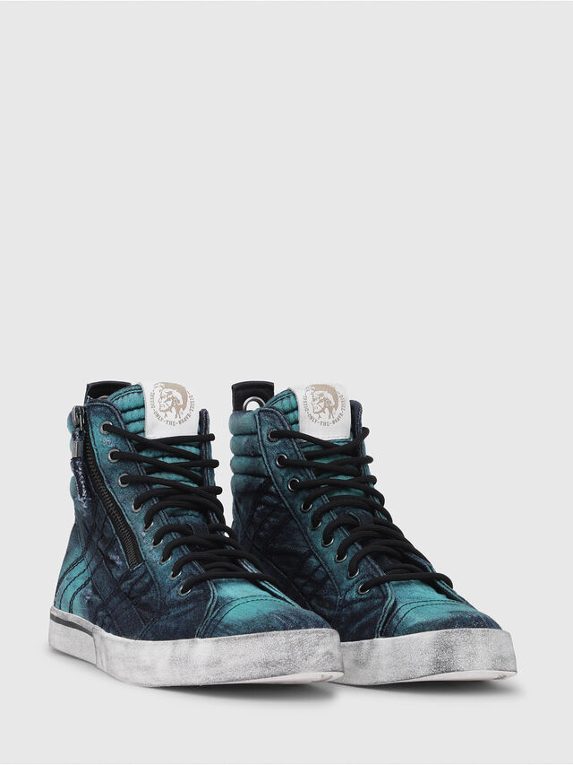 Diesel - D-VELOWS MID LACE, Turquoise - Baskets - Image 2