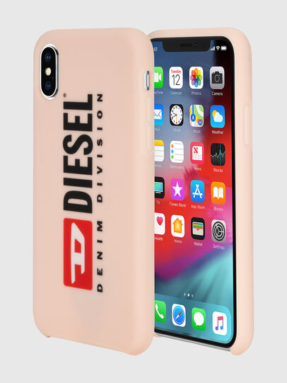 Diesel - DIESEL PRINTED CO-MOLD CASE FOR IPHONE XS & IPHONE X, Rose Poudré - Coques - Image 1