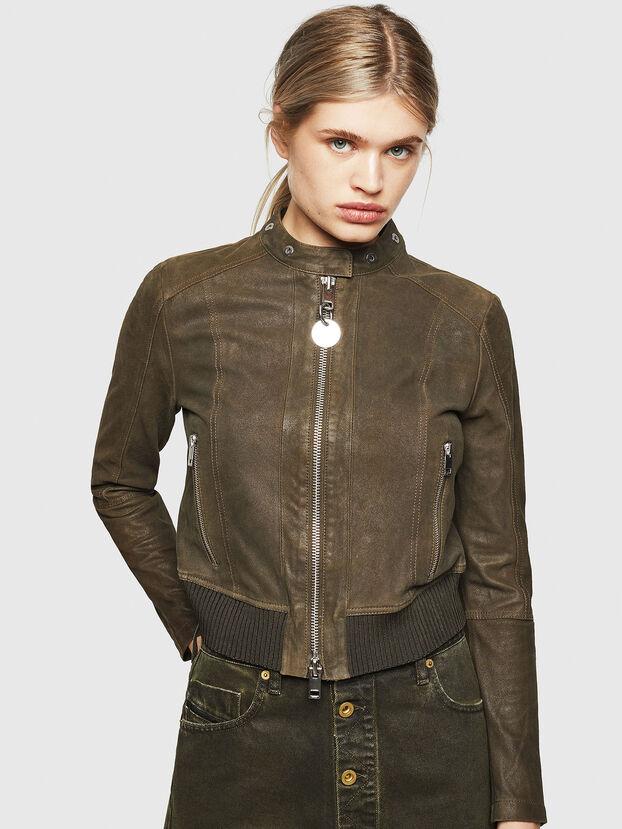 L-LYSSA-G, Vert Militaire - Vestes de cuir